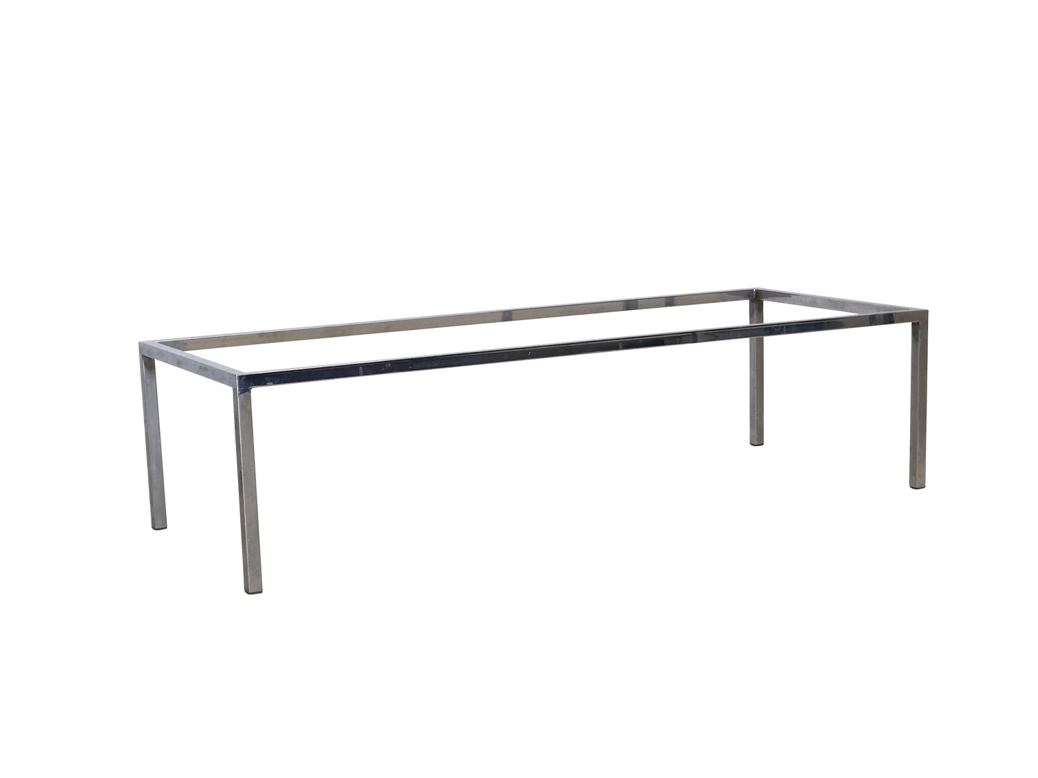 Picture of: Mid Century Modern Long Chrome Coffee Table Base