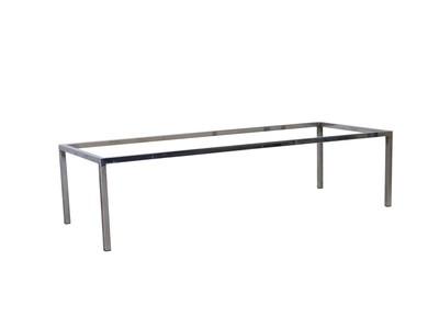Mid Century Modern Long Chrome Coffee Table Base