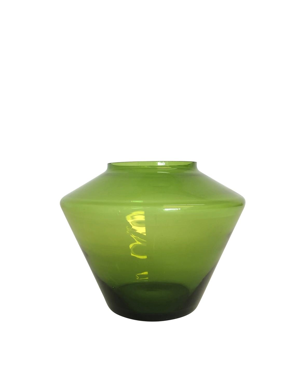 Mid Century Modern Green Space Vase