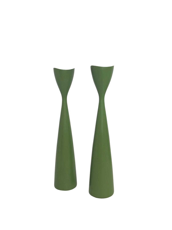 Mid Century Modern Pair of Candlesticks by Bonfils