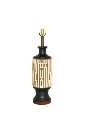 Mid Century Chinoiserie Ceramic Table Lamp