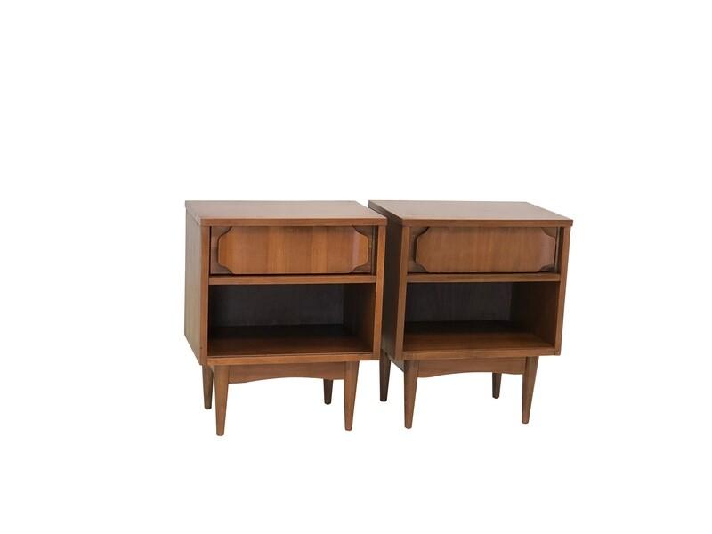 Mid Century Modern Side Tables in Walnut