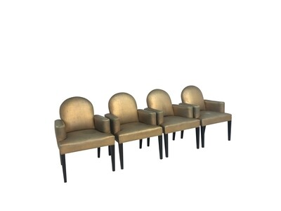 Designer's Special Set of 4 Mid Century Hollywood Regency Style Dining/Side Chairs