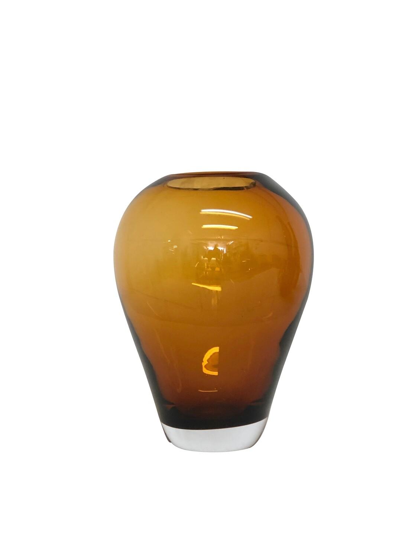 Mid Century Modern Amber Vase