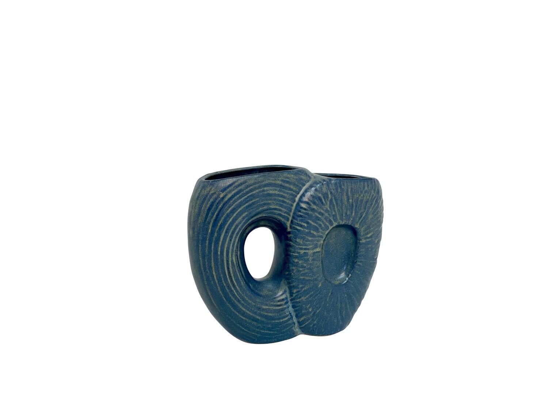 Mid Century Modern Ceramic Vase in Blue/Green