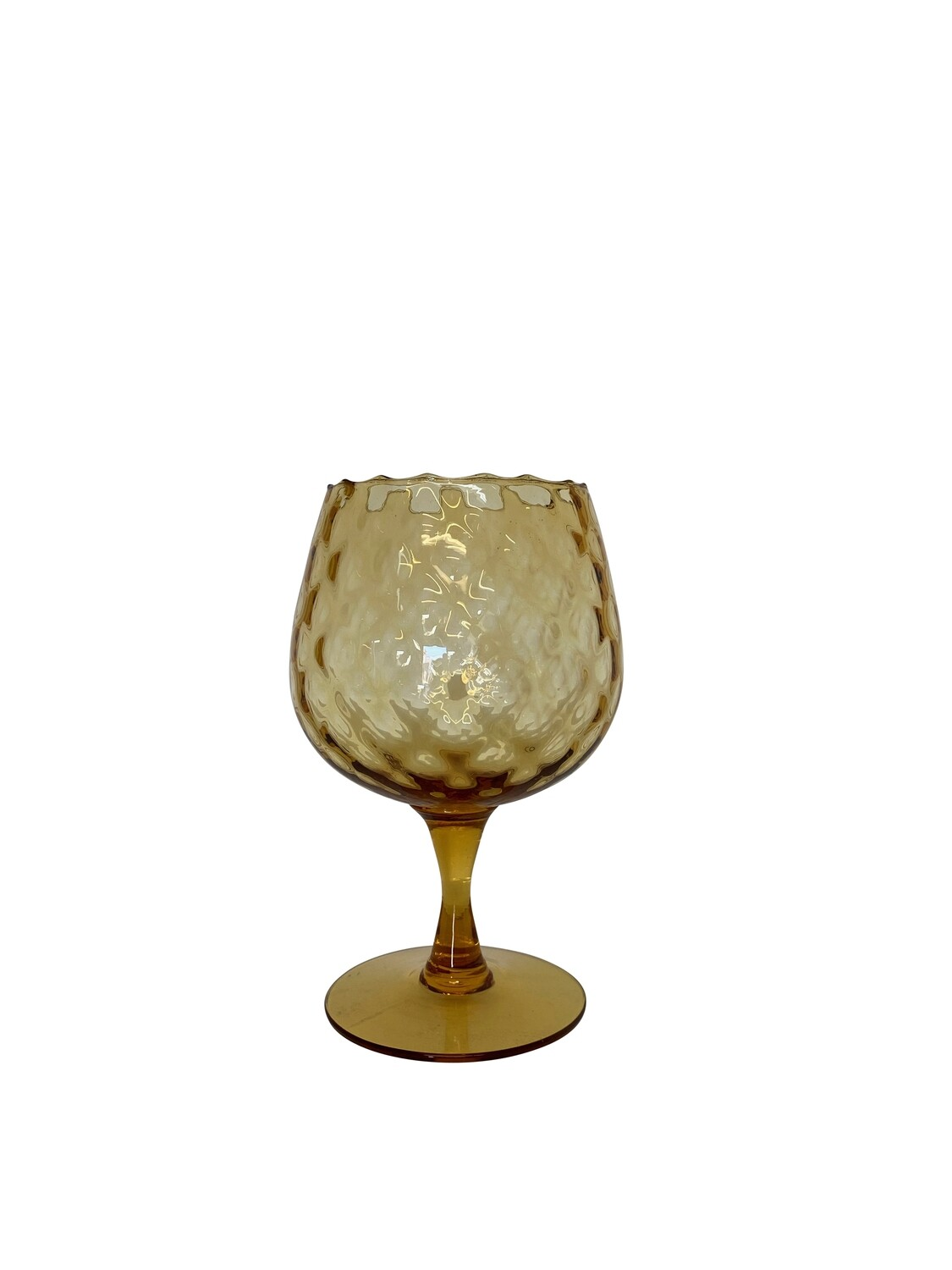 Mid Century Modern Amber Colored Brandy Snifter