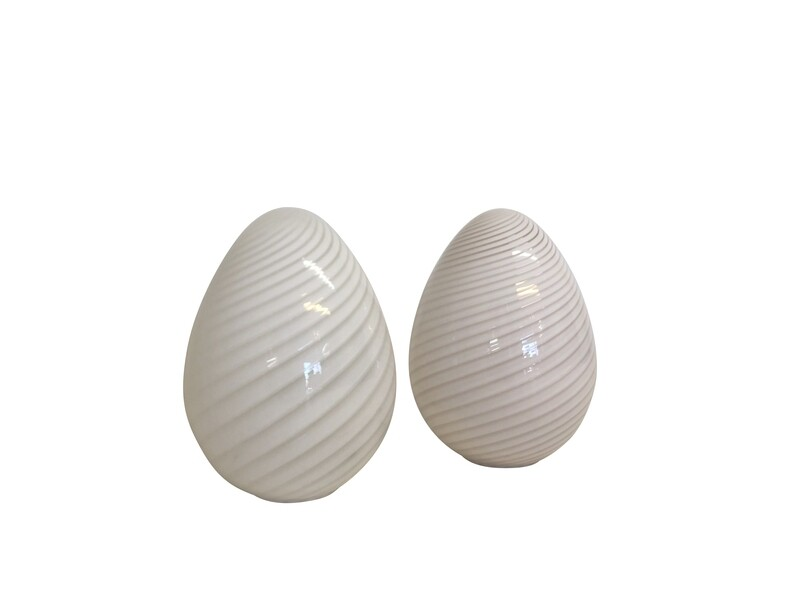 Large Mid Century Modern Murano Egg Floor or Table Lamps by Vetri 2 available