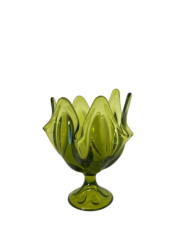 Mid Century Viking Handkerchief Vase in Green