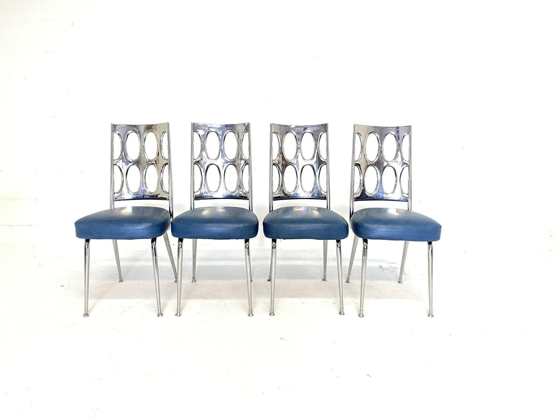 Mid Century Modern Retro Atomic Chromcraft Dining Chairs - Set of 4