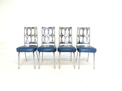 Mid Century Modern Retro Atomic Chromcraft Dining Chairs - Set of 4