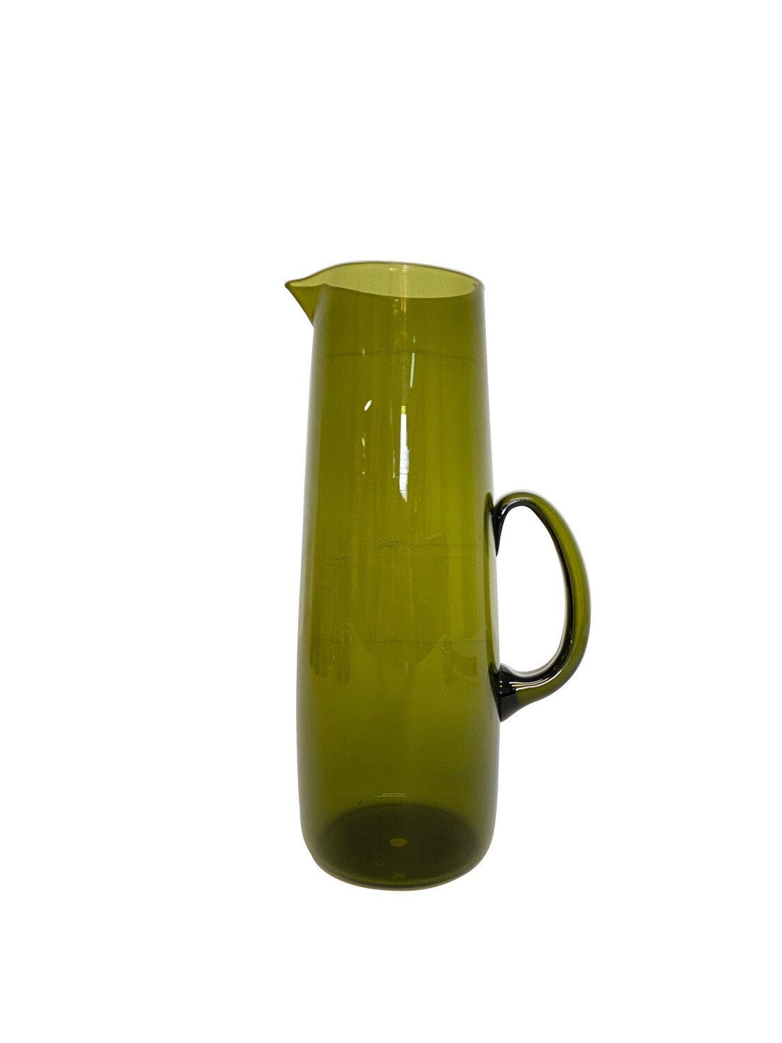 Mid Century Pitcher in Olive Green