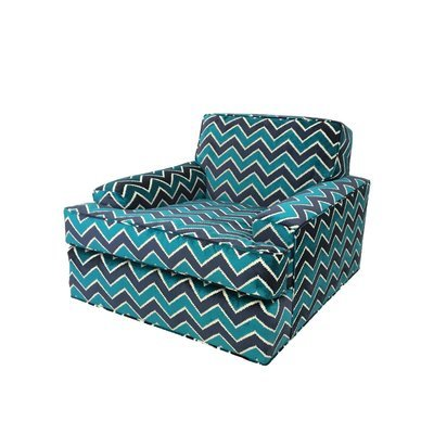 Newly Upholstered Mid-Century Modern Zig Zag Lounge Chair