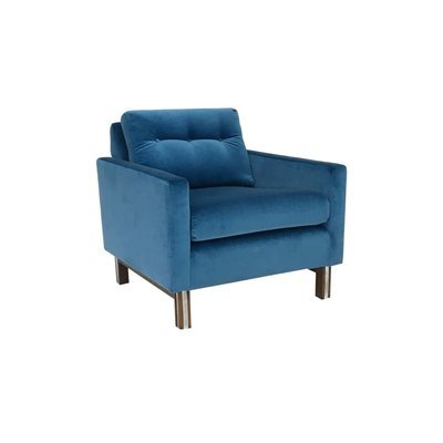 Mid Century Modern Lounge Chair in Electric Blue