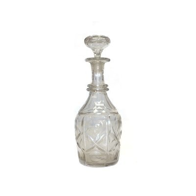 Vintage Cut Glass Decanter with Stopper