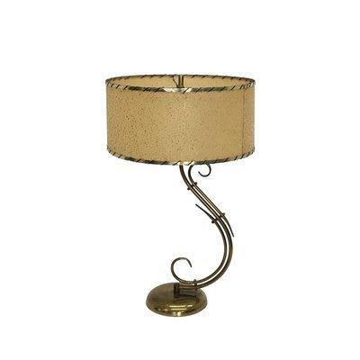 Mid Century Modern Brass Atomic Retro Table Lamp