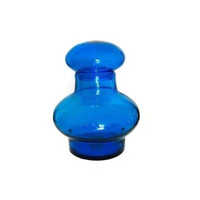 Oversized Mid Century Royal Blue Blenko Art Glass Jar