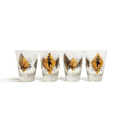 Mid Century Glassware Set of 4