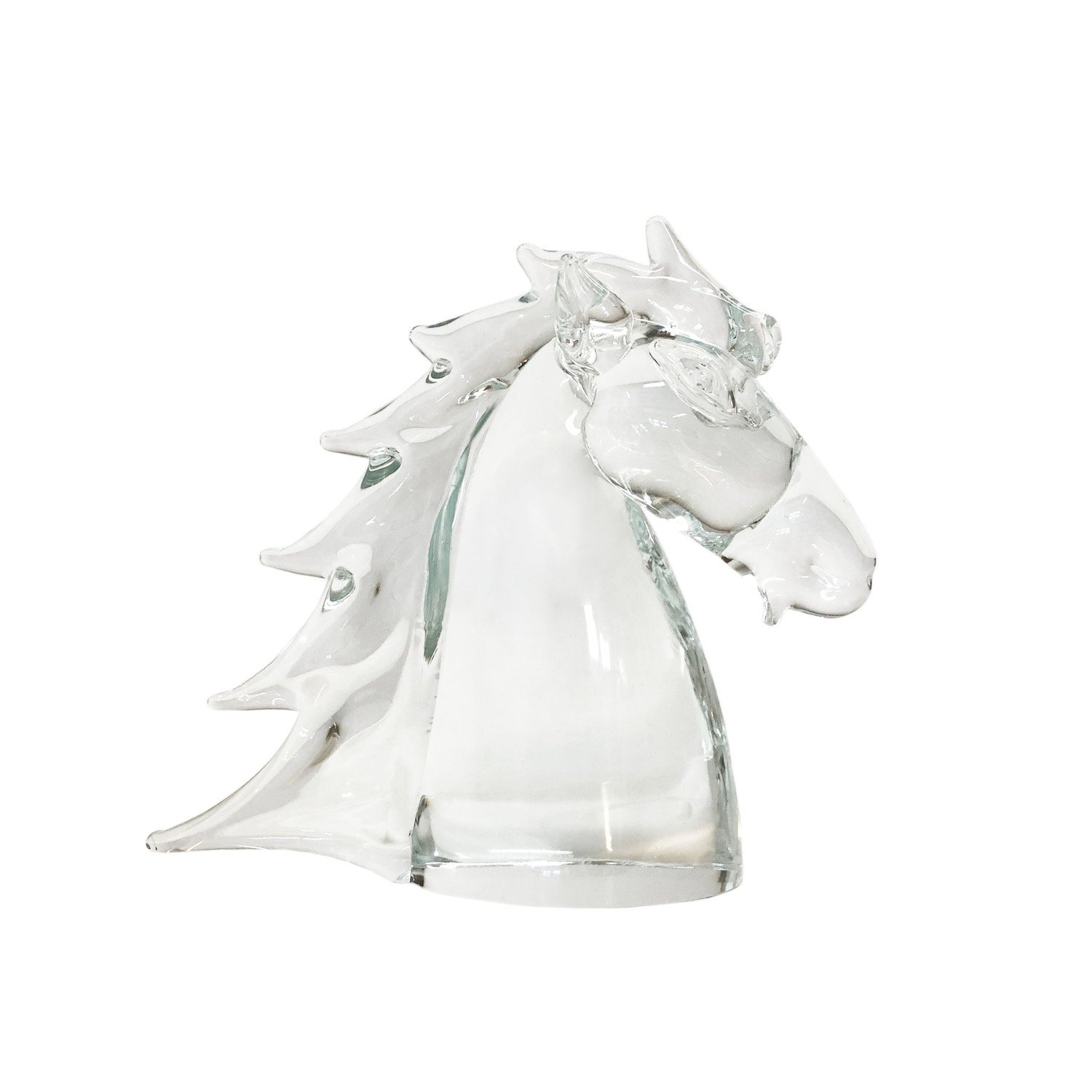 Mid Century Hand Blown Noble Glass Equine Bust