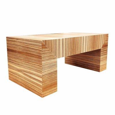 Custom Made Exotic Zebra Wood Coffee Table
