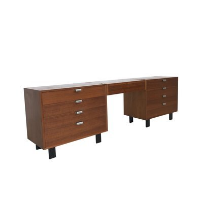 Mid Century Modern George Nelson for Herman Miller Double Dresser with Floating Vanity