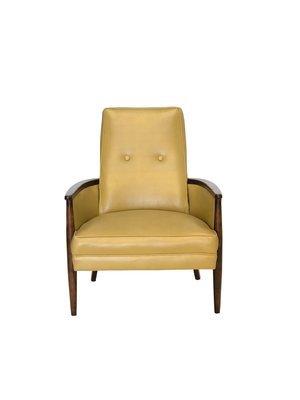 Mid Century Modern Walnut Framed Chair