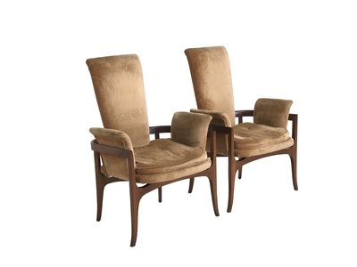 Mid Century Sculptural Lounge/Occasional Chairs- a Pair