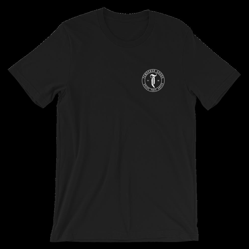 Tempered Circle Abyss Logo - Black