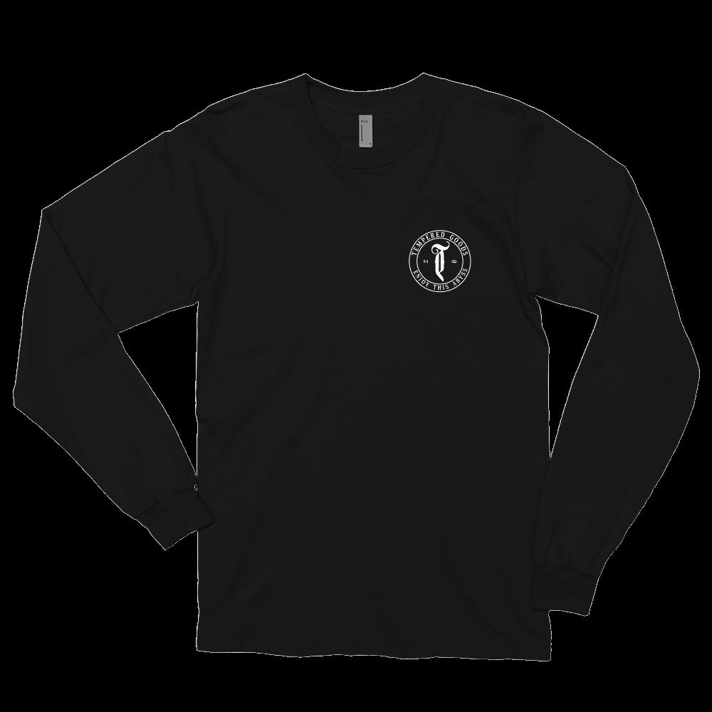 Tempered Circle Abyss Logo - Long sleeve t-shirt - Black