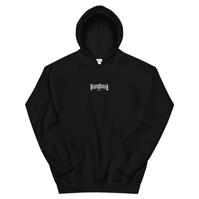 Tempered Ambigram Logo Hoodie - Black