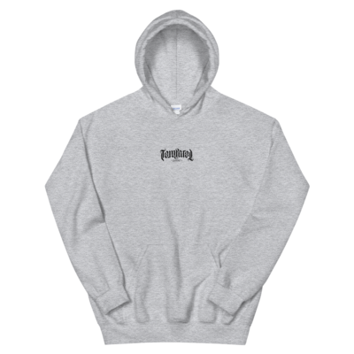 Tempered Ambigram Logo Hoodie - Heather