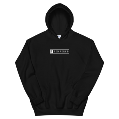 Tempered Box Logo Hoodie - Black