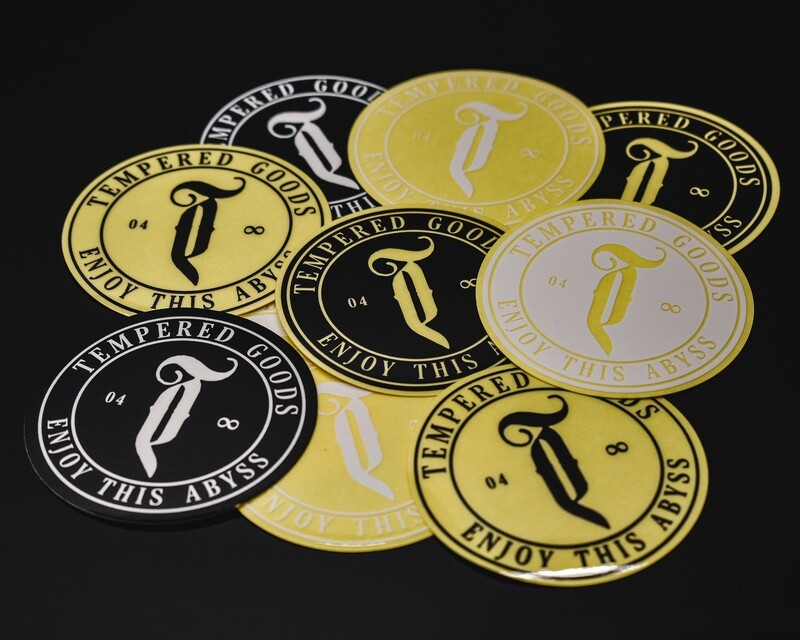 Tempered Abyss logo sticker pack 10pk