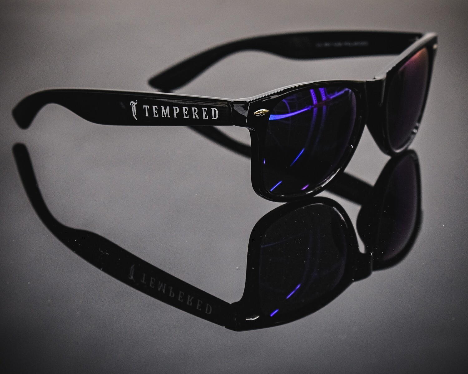 Tempered Polarised Sunglasses - V2 Black