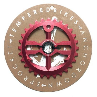 Tempered Anchor Down BMX Sprocket - Red