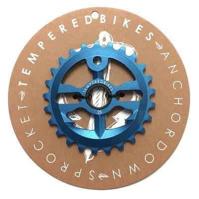 Tempered Anchor Down BMX Sprocket - Blue