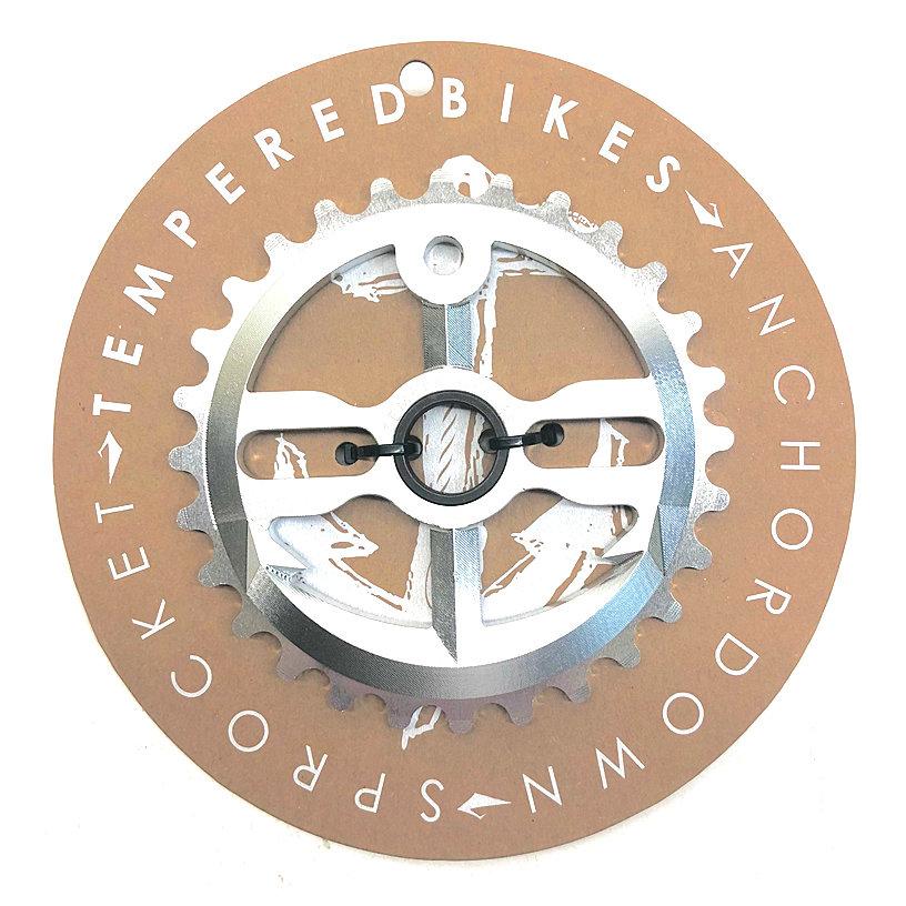 Tempered Anchor Down BMX Sprocket - Polished
