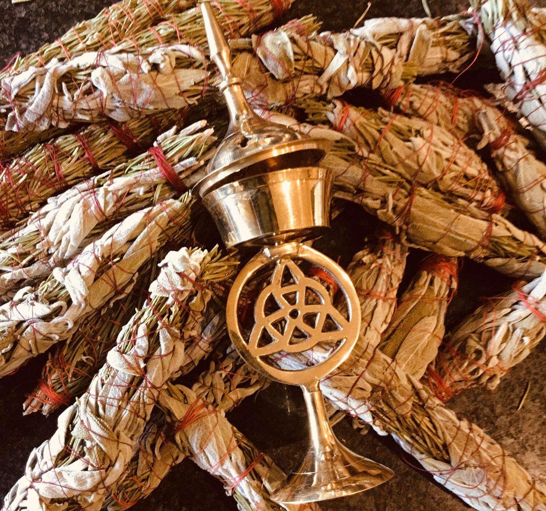 Triquetra Brass Burner