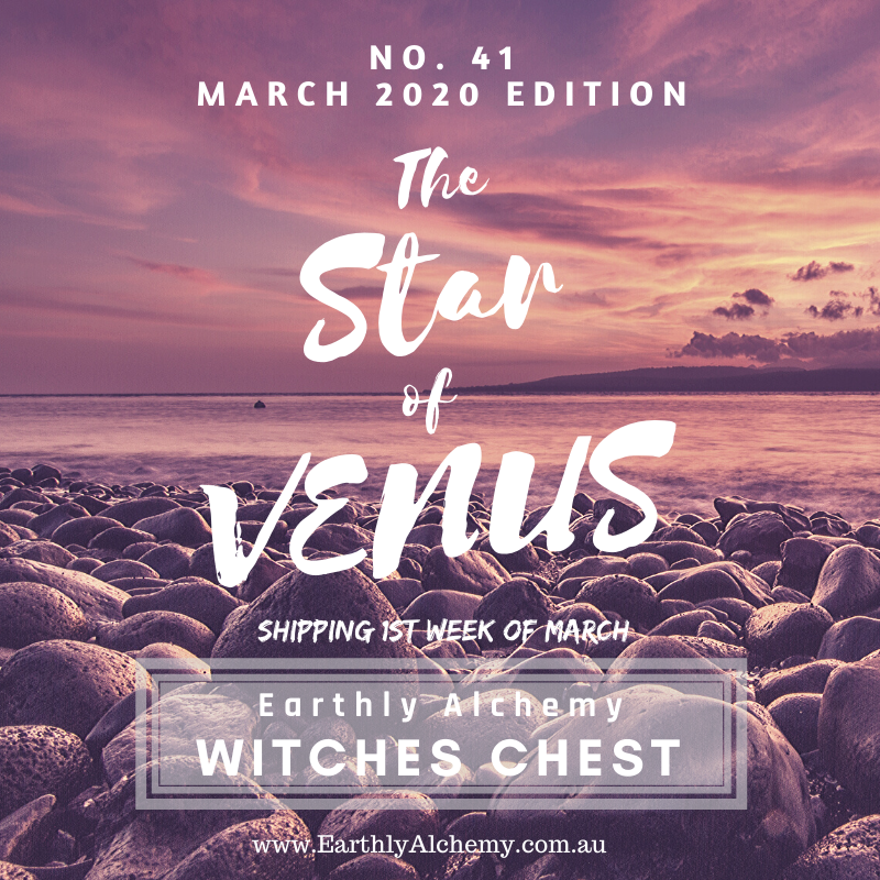 PAST PARCELS : MARCH 2020 < The Star of Venus >  Witches Chest no. 41