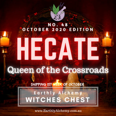 October 2020 < HECATE - Goddess of the Crossroads >  Witches Chest no. 48