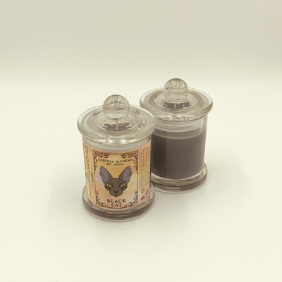 Black Cat Small Candle