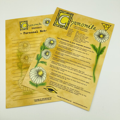 Chamomile Book Of Shadows Page
