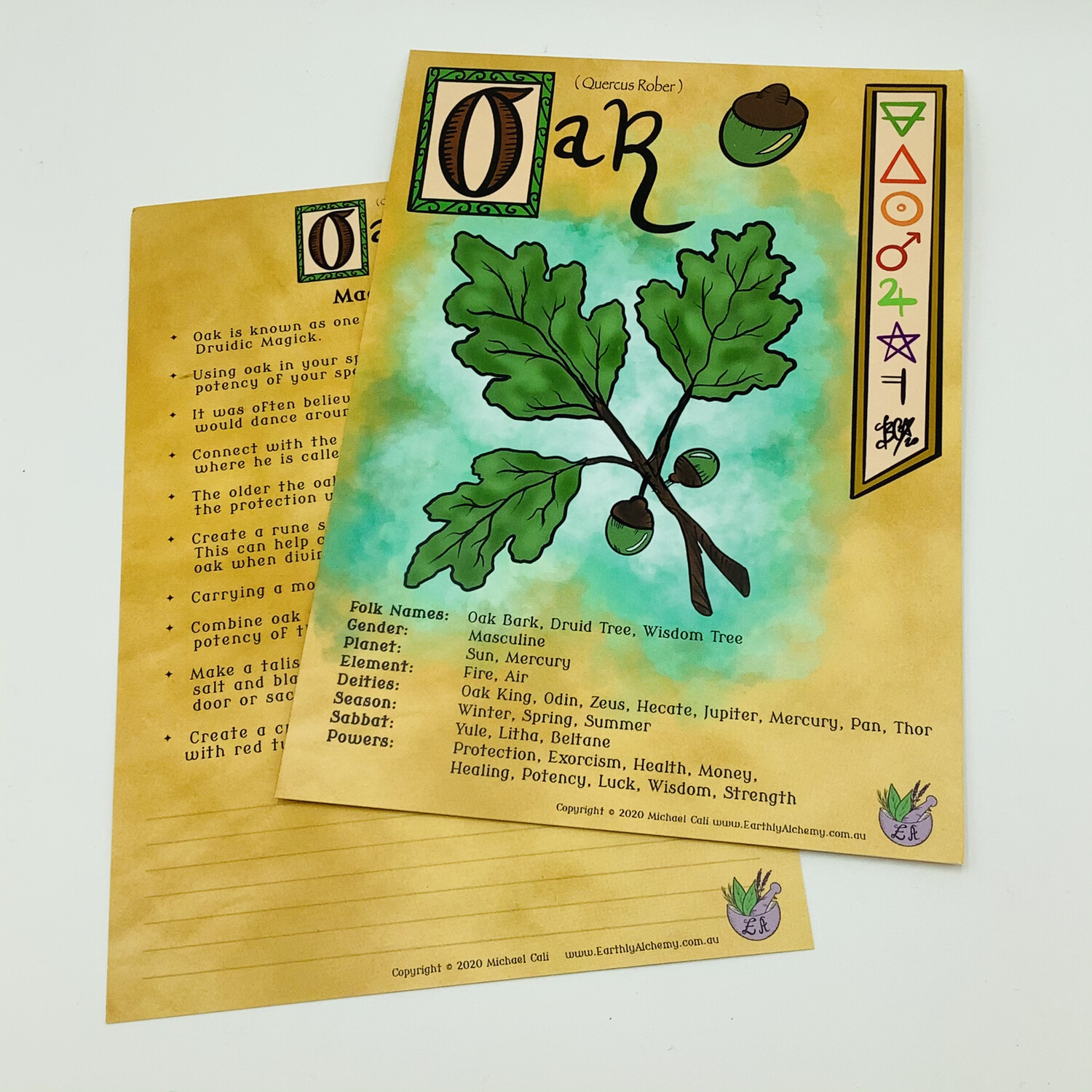 Oak Book Of Shadows Page
