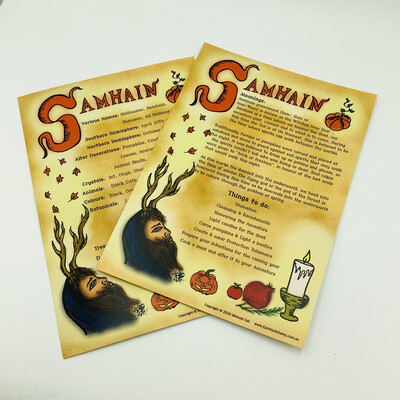 Samhain Book Of Shadows Page