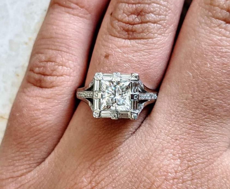 Authentic Tacori Designer Engagement Ring 1.94 Ct Total Sz 6