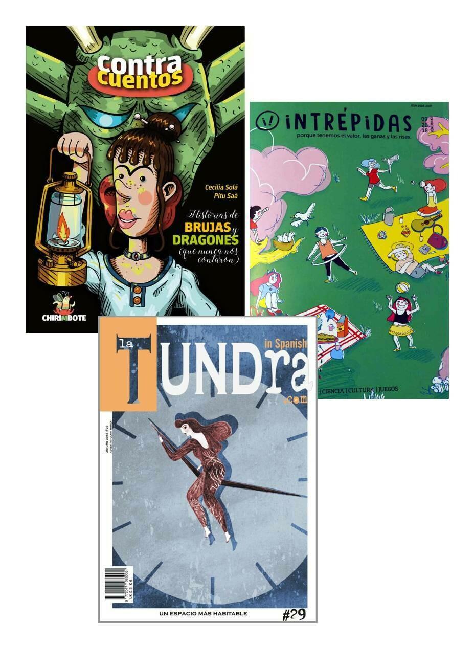 Historias de Brujas y Dragones + Intrépidas Magazine + La Tundra PACK