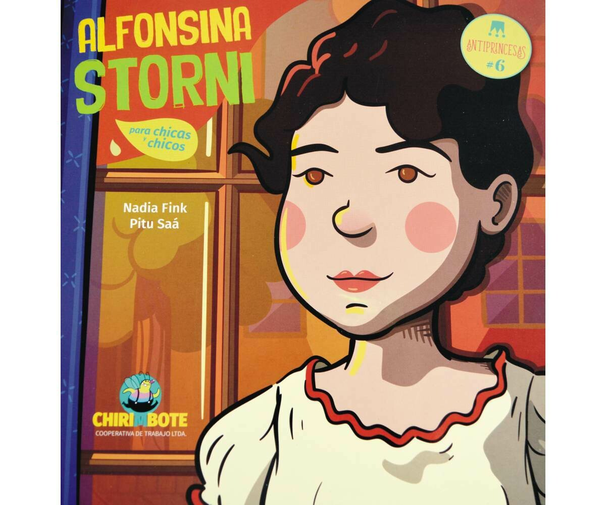 Alfonsina Storni - Illustrated biography in Spanish for children
