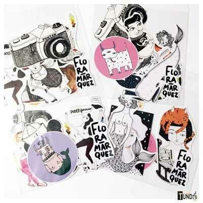 Flora Marquez Stickers