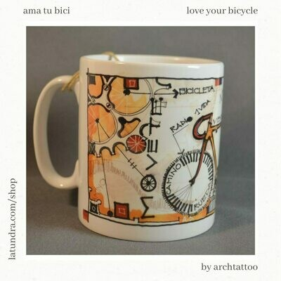 Love your bicycle Mug by La Tundra