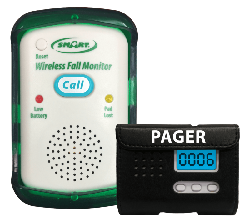 Quiet Wireless Fall Alarm Monitor (Pager Not Included)