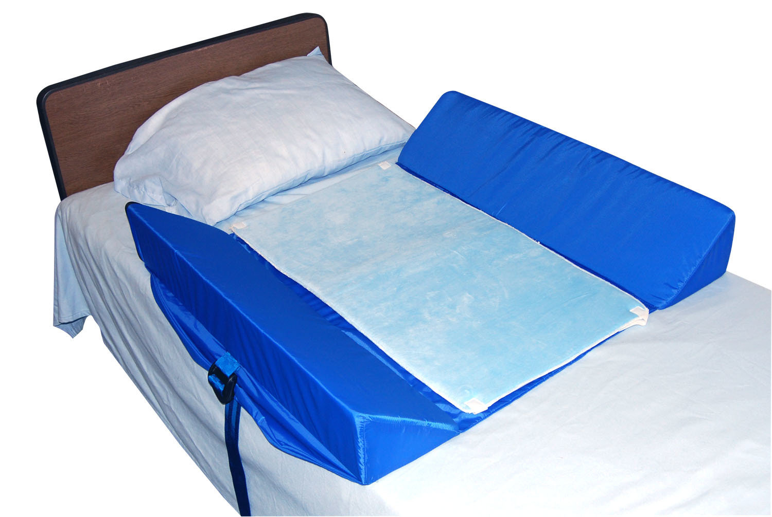 Bed Support System With Attached 30° Bolster